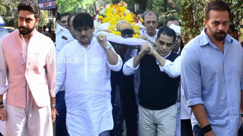 Actor-director-writer Neeraj Vora, who passed away following prolonged illness, was cremated in Mumbai on Thursday. (Photo: Viral Bhayani)