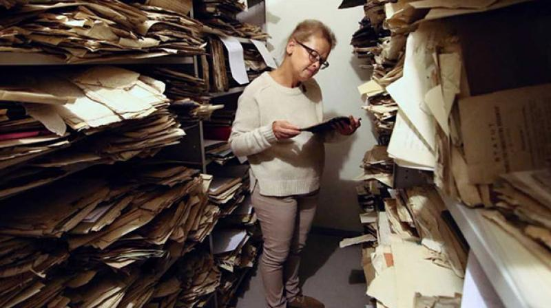 The cache, with documents dating back to the mid-18th century, includes religious texts, Yiddish literature and poetry, testimonies about pogroms as well as autobiographies and photographs. (Photo: AFP)