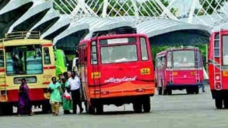 Private buses to stay off road from today