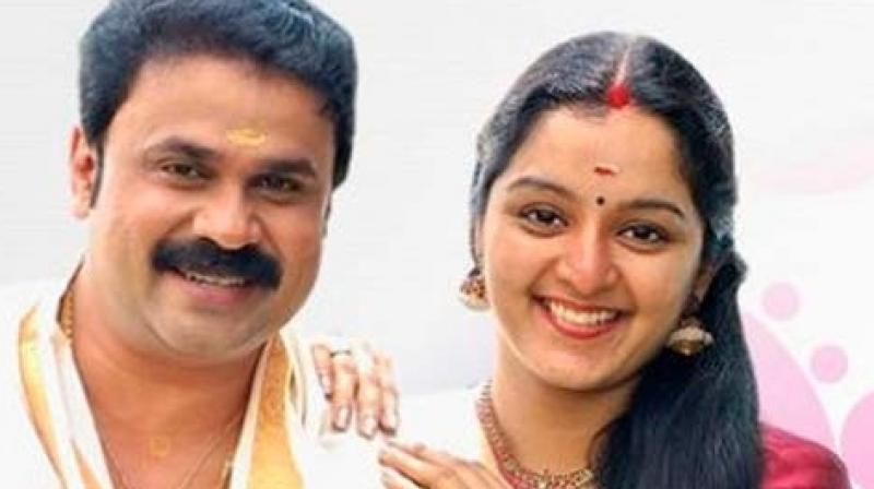 Dileep with Manju Warrier