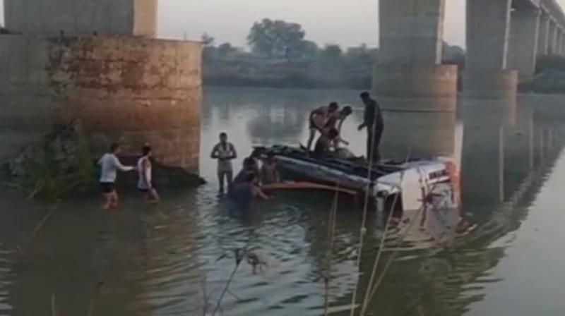 Bus plunges off bridge in India; deaths reported