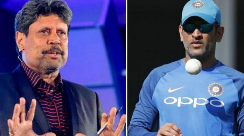 World Cup-winning cricket captain Kapil Dev on Monday said that people expect under-pressure MS Dhoni to perform as he was during his early 20s. (Photo: PTI / AFP)