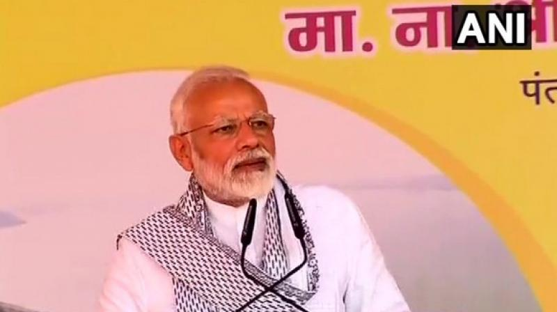 Prime Minister Modi is in Maharashtra to launch various development projects. (Photo:ANI)