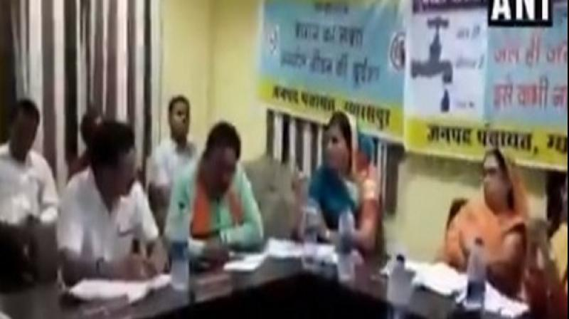 BJP MLA from Vidisha, Leena Jain allegedly threatened an official in Gyaraspur for not inviting her to an event. (Photo: ANI)