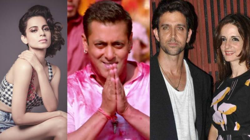 Kangana Ranaut, Salman Khan, Hrithik Roshan and Sussanne Khan.