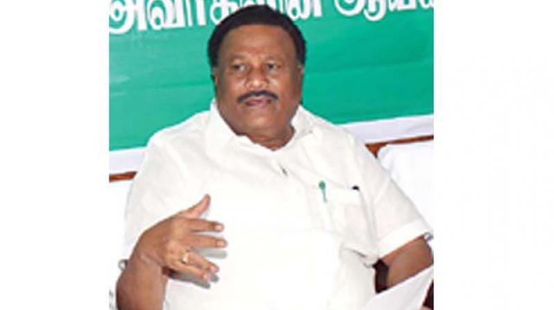 State Forest minister Dindigul Srinivasan.