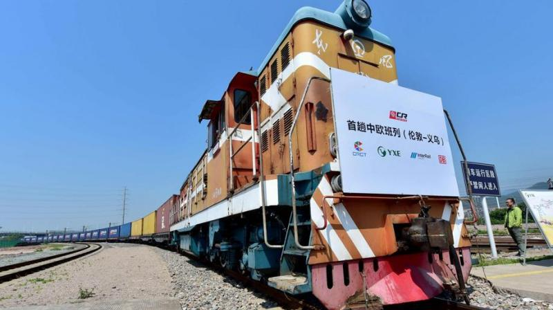 London is the 15th city to be linked to a new freight network offered by the state-run China Railway Corporation. (Photo: AFP)