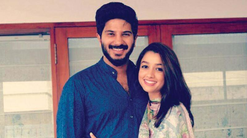 Dulquer and his wife Amaal