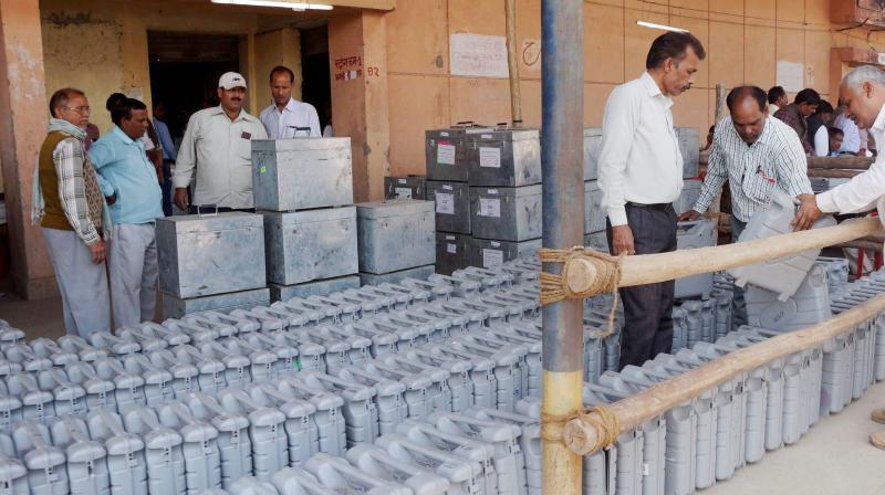 Electronic Voting Machines. (Photo: PTI)