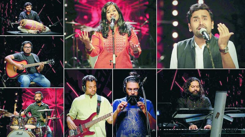 Along with the lead vocalists Sudeep and Remya, the band features Naveen MP (percussion), Ramu Raj (keys), Shyam Adat, RJ Oscar (flute), Pious Guit (bass) and Nibras Brad (drums).