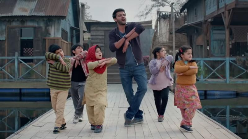 Screengrab of Notebook's song Bumro featuring Zaheer Iqbal with kids. (Courtesy: YouTube/T-Series)