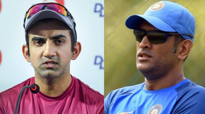 Indian Batsman Gautam Gambhir raised questions over Dhoni batting approach