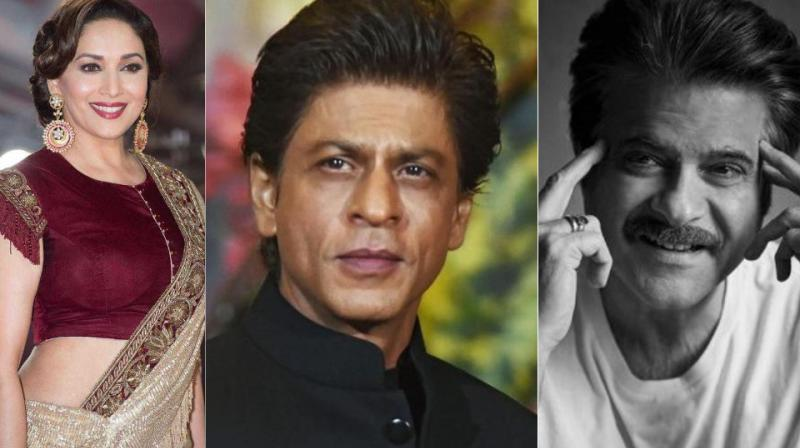 Shah Rukh Khan has worked with both Madhuri Dixiti-Nene and Anil Kapoor in his career.