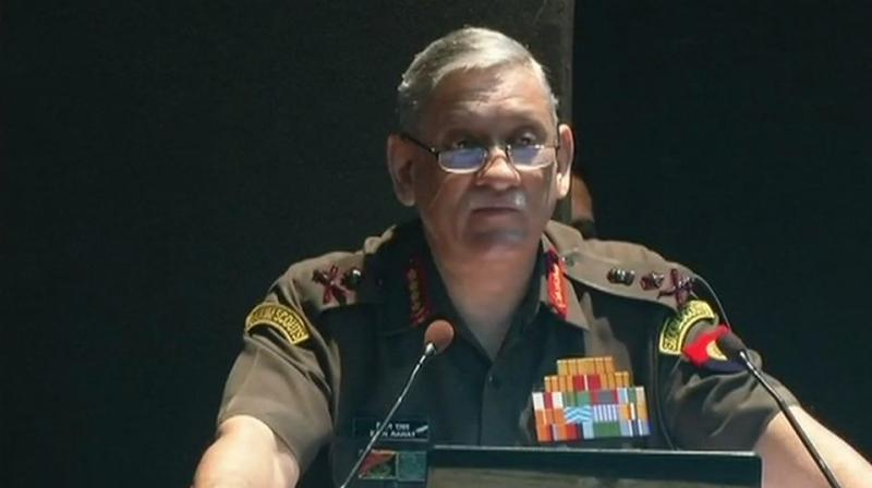 The contested sovereignty of maritime territories pose a major challenge in East Asia and the South China Sea and these disputed maritime boundaries are threatening international waters, Gen Rawat said. (Photo: ANI | Twitter)