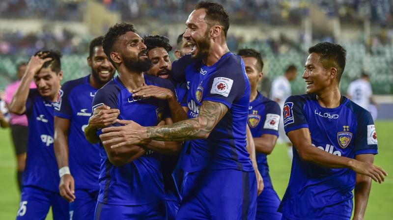 Bengaluru FC, last year's runner-up to Chennaiyin, remains on 31 points after 15 matches and will have to wait to seal a playoff berth. (Photo: PTI)