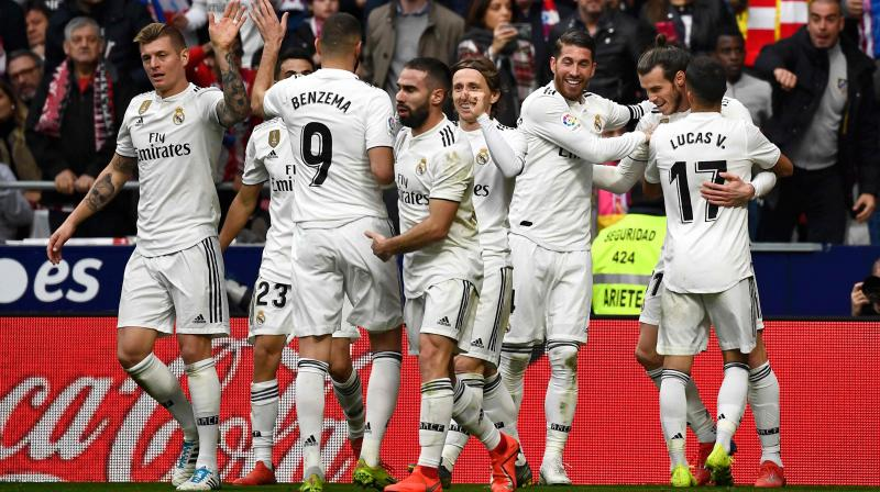 Bale's 100th goal for Madrid ended Atletico's hopes of a comeback after Sergio Ramos' penalty put Real in front at half-time, with Antoine Griezmann earlier cancelling out Casemiro's acrobatic opener. (Photo: AFP)