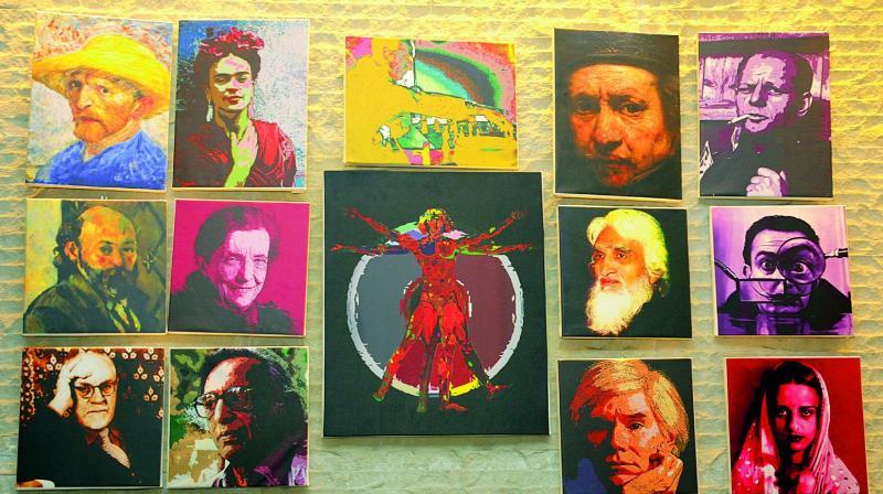 Manohar's artwork titled Homage.