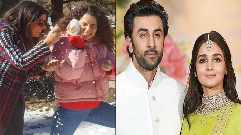 Kangana Ranaut's sister Rangoli Chandel attacks Ranbir Kapoor and Alia Bhatt.