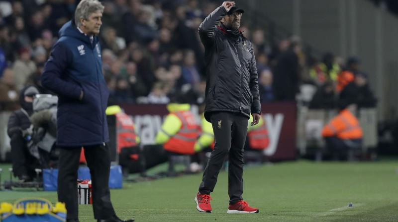 It could have been even worse for Liverpool had Declan Rice and Mark Noble not failed to hit the target with huge chances to claim all three points for West Ham. (Photo: AP)