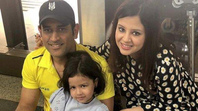 He is the quintessential 'Captain Cool' on the cricket field but at home, Mahendra Singh Shoni says it's his wife Sakshi who calls the shots and he never comes in the way. (Photo:INstagram)