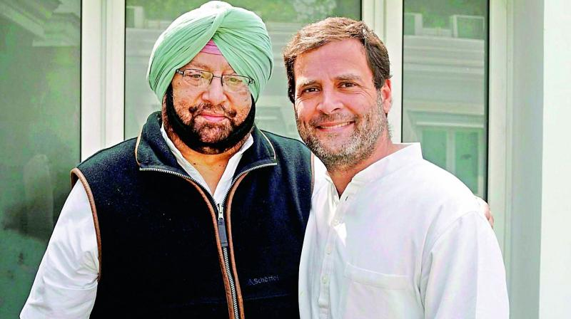 BJP, SAD attacked Punjab CM Amarinder Singh for defending Rahul Gandhi and his stand and claimed he had hurt the sentiments of people in his state and of Sikhs across the country. (Photo: File | PTI)