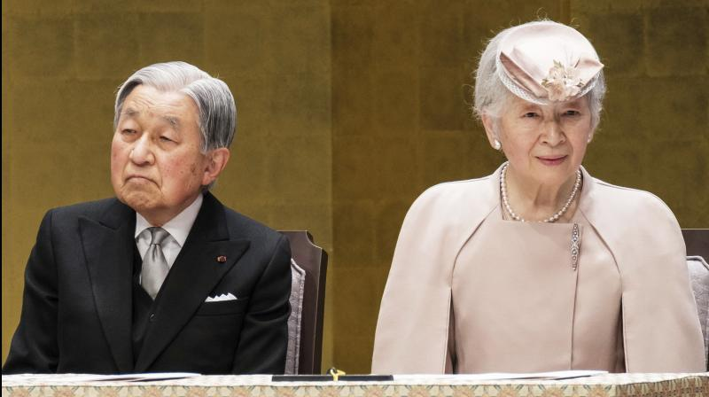 Japan's Emperor Akihito attended a ceremony on Sunday to mark the 30th year of his reign (Photo:AP)
