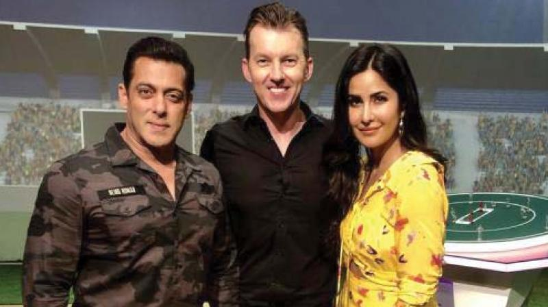 Salman and Katrina came together to host a special segment along with the host and former cricketer Brett Lee.