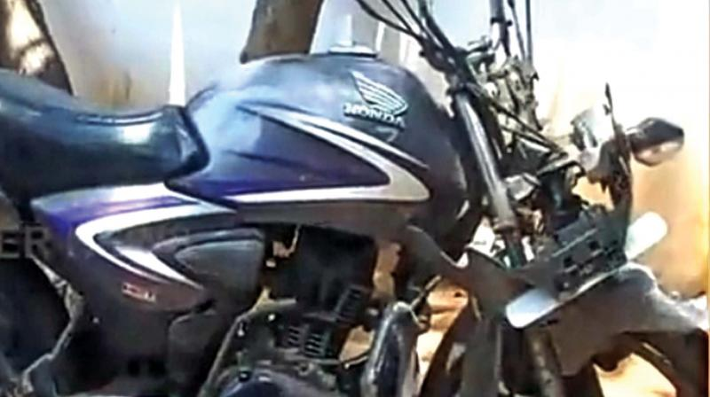 Bike involved in the accident.