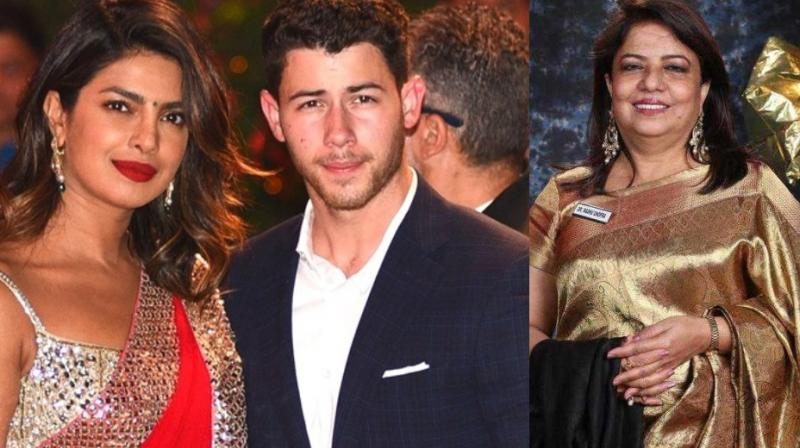 Priyanka Chopra's Madhu Chopra mother met Nick Jonas during his recent India visit.