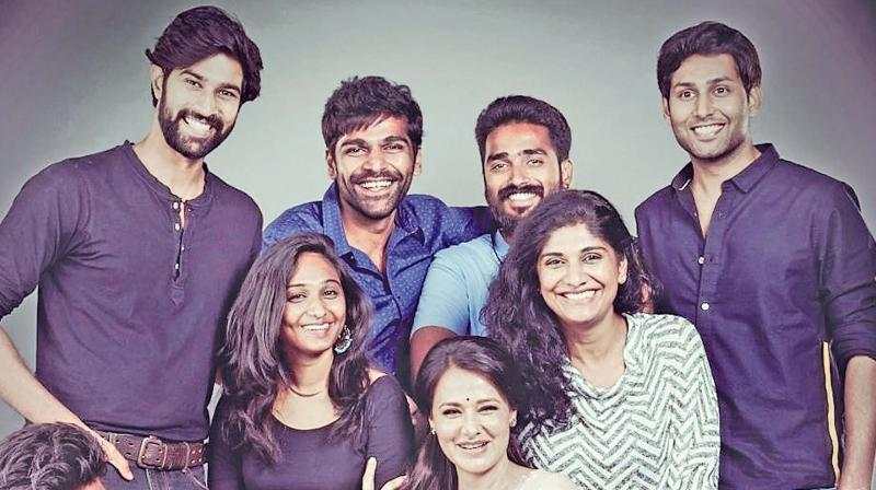 Amala Akkineni with team.