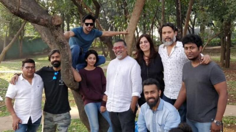 Varun Dhawan shoots for 'October' poster.