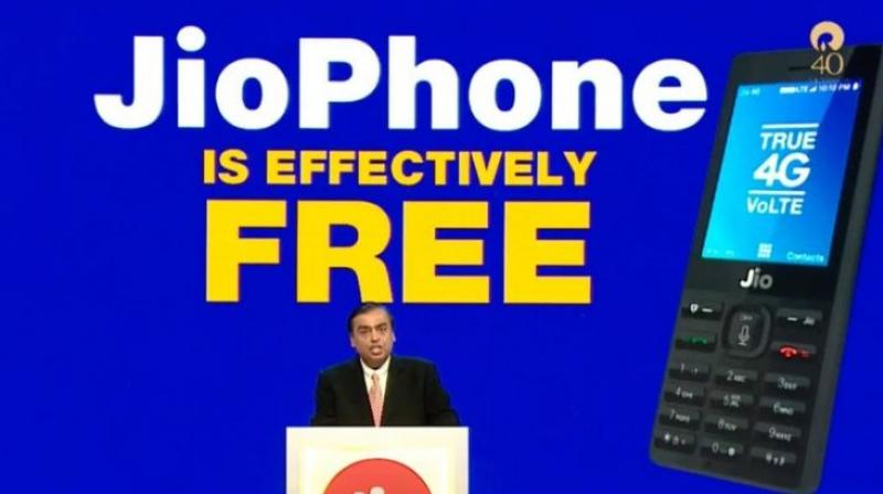Reliance Jio will soon roll out its 4G VoLTE feature  phone called 'JioPhone' for Rs 0.