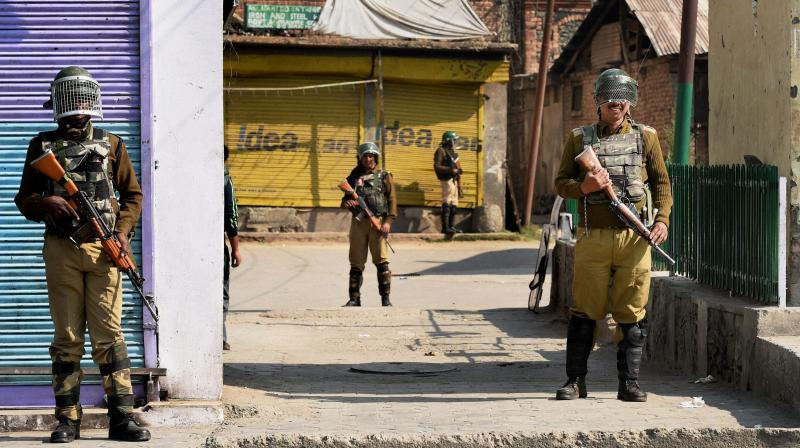 Security jawans stand guard in Jammu and Kashmir. (Photo: PTI/File)