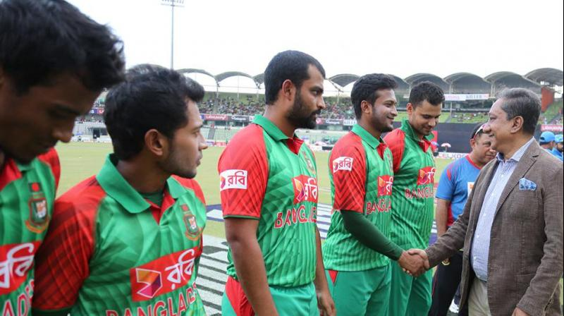 Bangladesh Cricket Board President Nazmul Hassan on Tuesday said the national players' unprecedented strike, which has jeopardised the upcoming tour of India, seems to be a 'conspiracy' to destabilise the game in the country. (Photo:BCB)