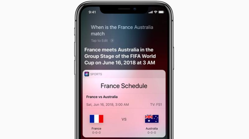 Siri can answer all your World Cup related questions.