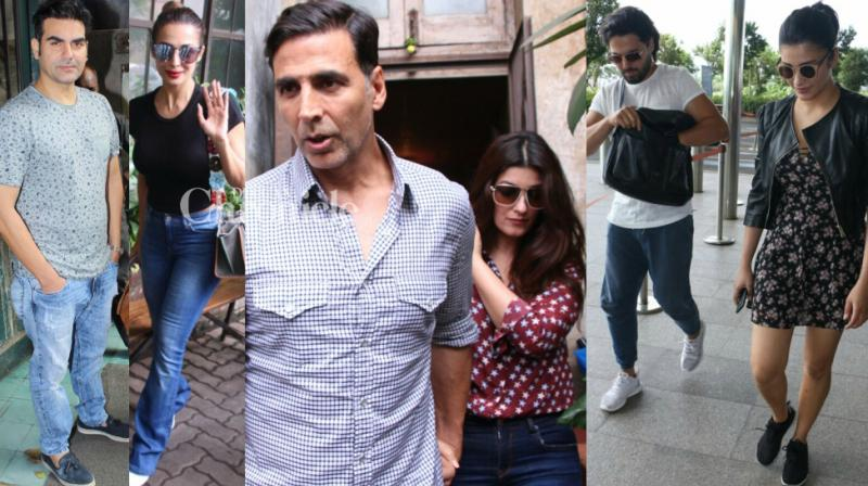 Several Bollywood couples stepped out together on Sunday, and other celebrities were also snapped by the shutterbugs. (Photo: Viral Bhayani)