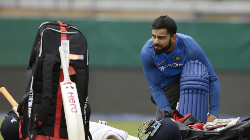 Since Kumble's unhappy exit, a one-year old tweet welcoming the former leg-spinner to the coach's post has been deleted from Kohli's Twitter feed. (Since Kumble's unhappy exit, a one-year old tweet welcoming the former leg-spinner to the coach's post has been deleted from Kohli's Twitter feed.(Photo: AP)