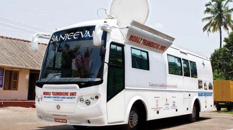 Sanjeevani, the mobile tele-medicine unit of the Malabar Cancer Care Society Kannur.  (Photo: DC)