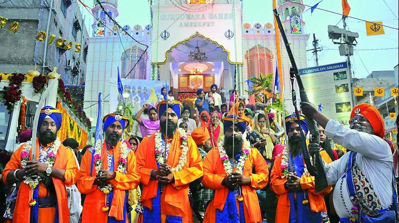 Sikh Community Celebrates Baisakhi at Gurudwara Singh Sabha in Bhubaneswar