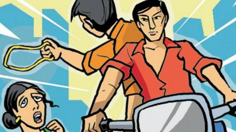 Following a series of chain-snatching incidents at Kushaiguda, Neredmet and Jawaharnagar, special teams were formed in the Rachakonda police commissionerate to arrested the accused. (Representational Image)