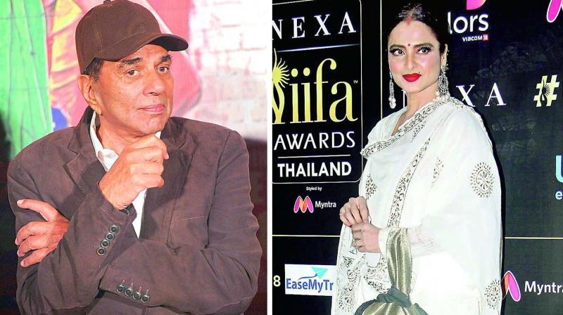 Dharmendra and Rekha