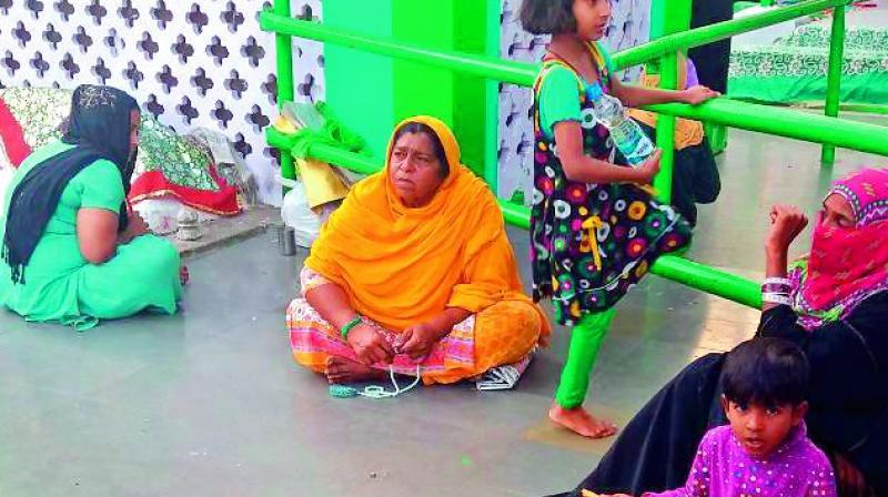 Beggars take shelter at a local dargah. (Photo: DC)