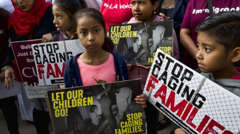 More than 2,000 children have been separated from their parents in recent weeks and placed in government-contracted shelters — hundreds of miles away, in some cases — under a now-abandoned policy toward families caught illegally entering the US. (Photo: AP)