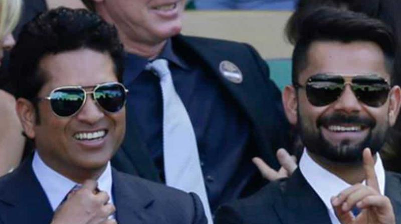 Virat Kohli (R) With Sachin Tendulkar (L) (Photo: AP)