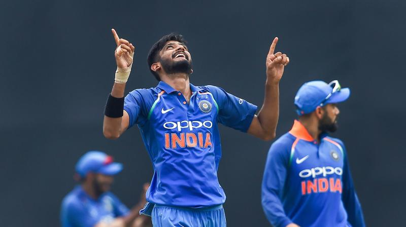 Shastri seemed impressed with left-arm seamer Khaleel but wants him to add a few more clicks.(Photo: PTI)