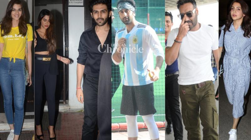 Bollywood celebrities were snapped in Mumbai on Sunday as they stepped out in the city. (Photos: Viral Bhayani)