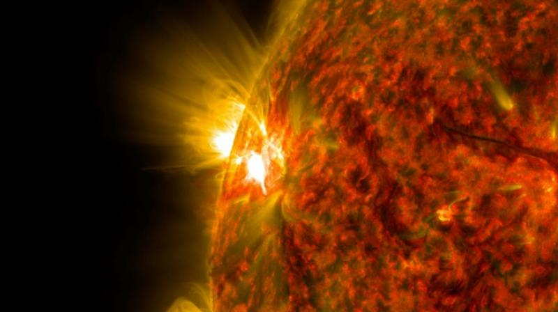 Solar storms result from an accumulation of magnetic energy in some places. (Photo: AFP)