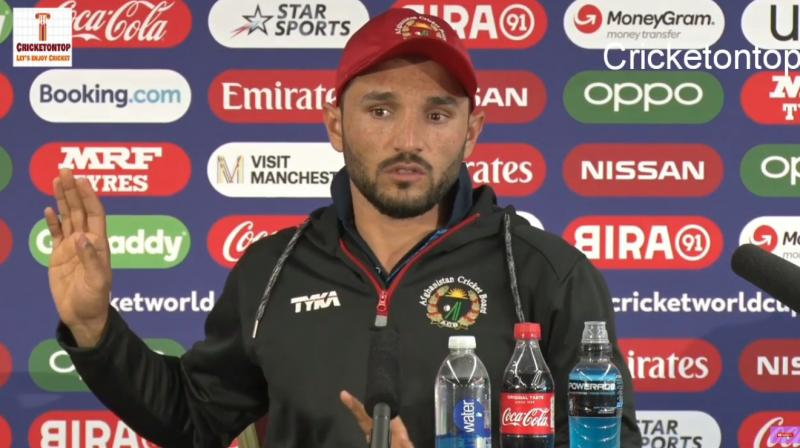 Stating he didn't know about the incident because he wasn't involved in it, Gulbadin Naib deflected the questions. (Photo: Cricketontop /YouTube)