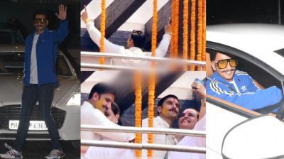 After Deepika Padukone began wedding puja in her Bengaluru home, Ranveer Singh was now snapped at the haldi ceremony.