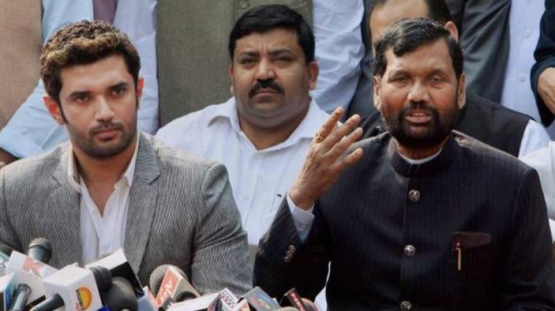 Chirag Paswan, son of Ram Vial Paswan, said patience of many within the LJP is running thin as circumstances raising concerns of the Dalits and tribals have emerged of late. (Photo: File | PTI)